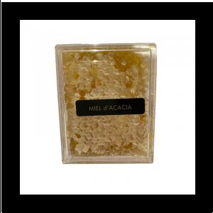 Miel d'acacia en rayon