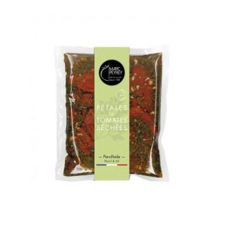 Pétales de tomates séchées à la persillade