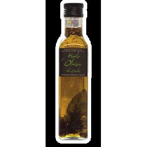 Huile d'olive ail et basilic