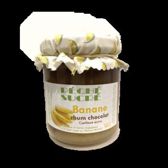 Confiture banane rhum chocolat