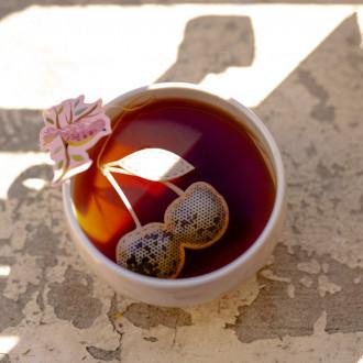 Thé noir Griottes, motif cerises
